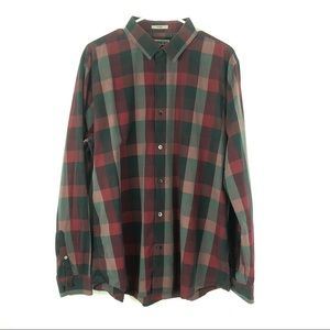 Express Fitted Black Button Down Long Sleeve Shirt